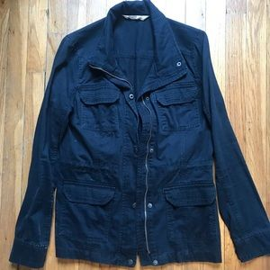 Navy Blue Twill Jacket